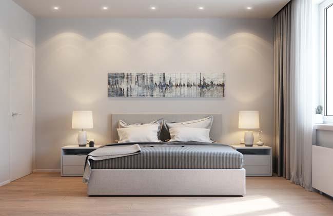 Thiết kế phòng ngủ với tông màu hài hòa