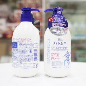 Review sữa dưỡng thể hatomugi chống nắng hiệu quả